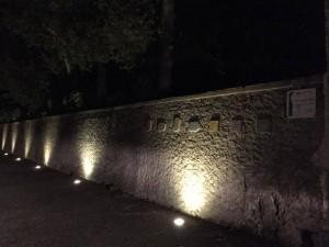 Muretto delle Poesie by night